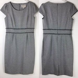 Julian Taylor Gray Capped Sleeve Dress